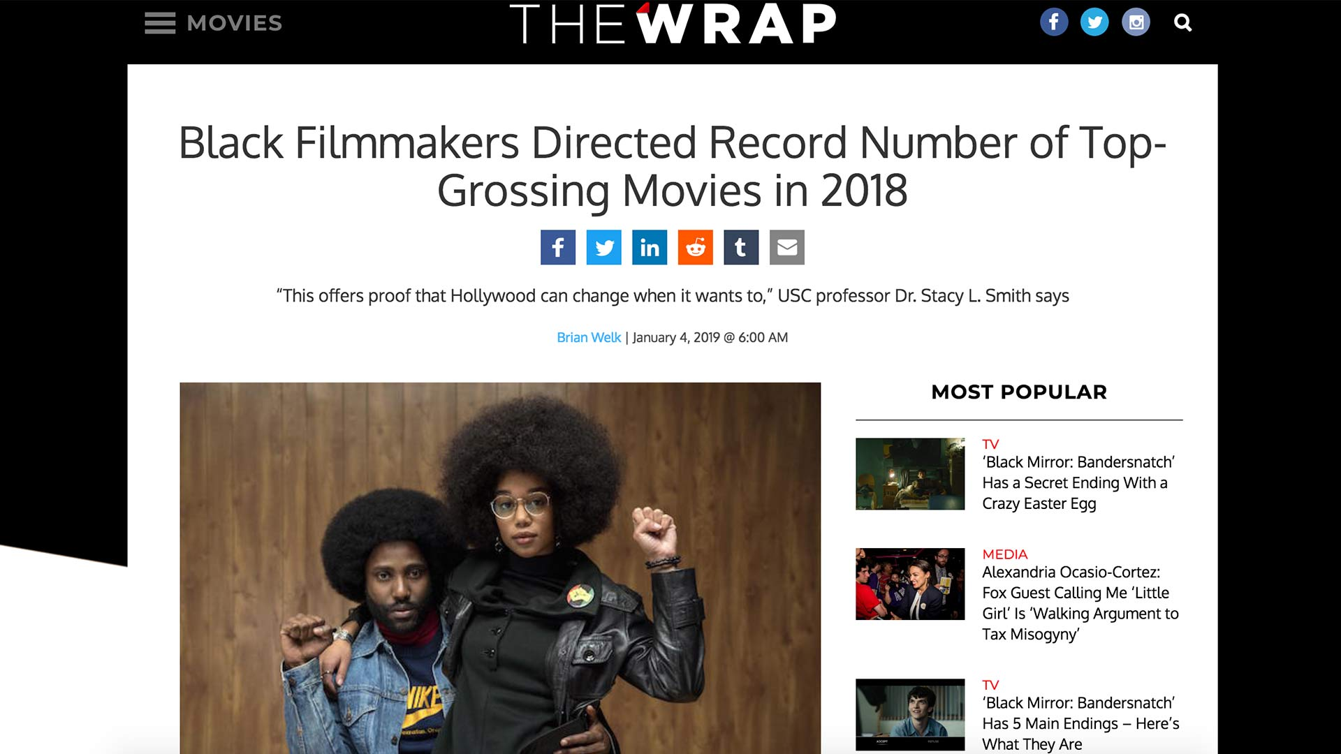 Fairness Rocks News Black Filmmakers Directed Record Number of Top-Grossing Movies in 2018