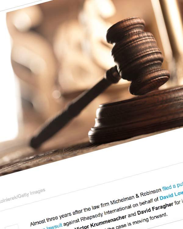 Fairness Rocks News Settlement Approval Motion Filed in Rhapsody Class-Action Case