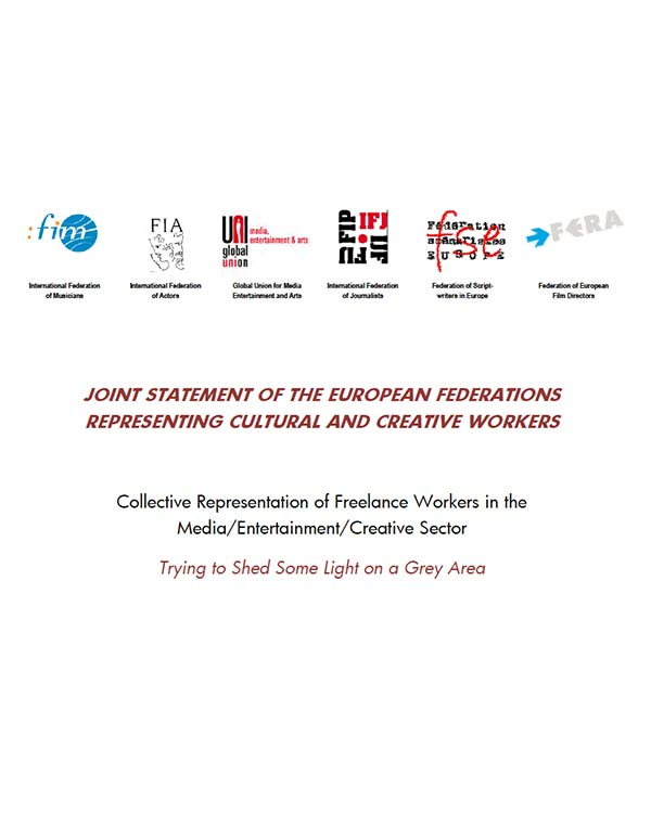 Fairness Rocks News JOINT STATEMENT OF THE EUROPEAN FEDERATIONS REPRESENTING CULTURAL AND CREATIVE WORKERS