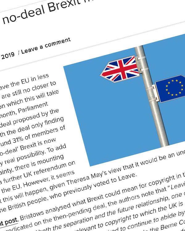 Fairness Rocks News What would a no-deal Brexit mean for copyright in the UK?