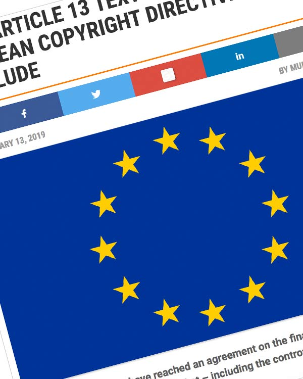 Fairness Rocks News FINAL ARTICLE 13 TEXT AGREED AS EUROPEAN COPYRIGHT DIRECTIVE TALKS CONCLUDE