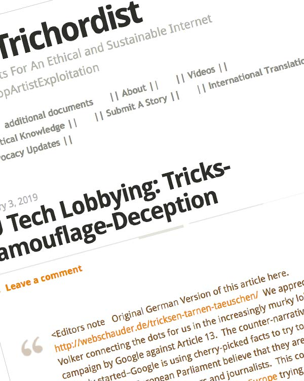 Fairness Rocks News EU Tech Lobbying: Tricks-Camouflage-Deception
