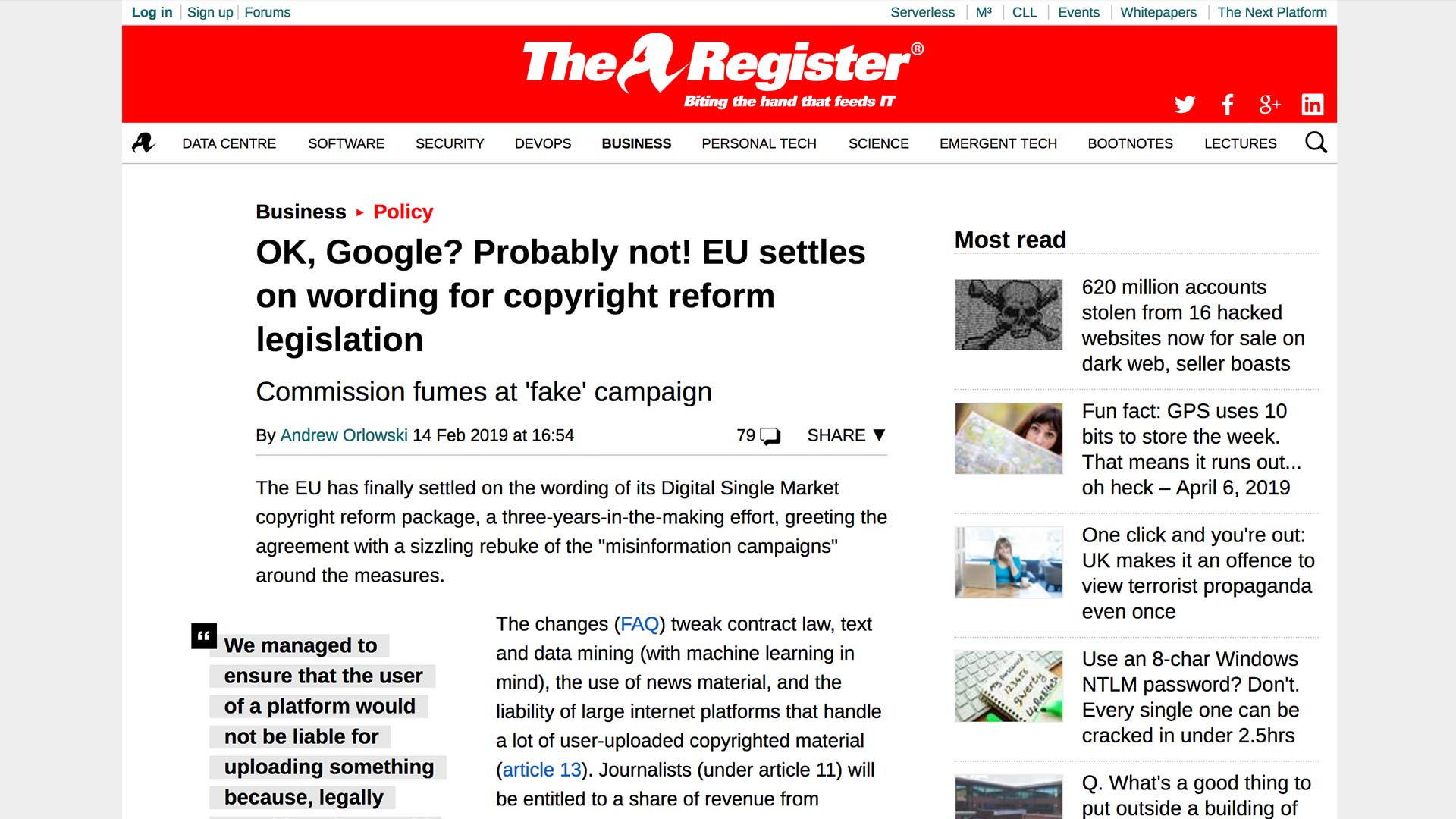Fairness Rocks News OK, Google? Probably not! EU settles on wording for copyright reform legislation
