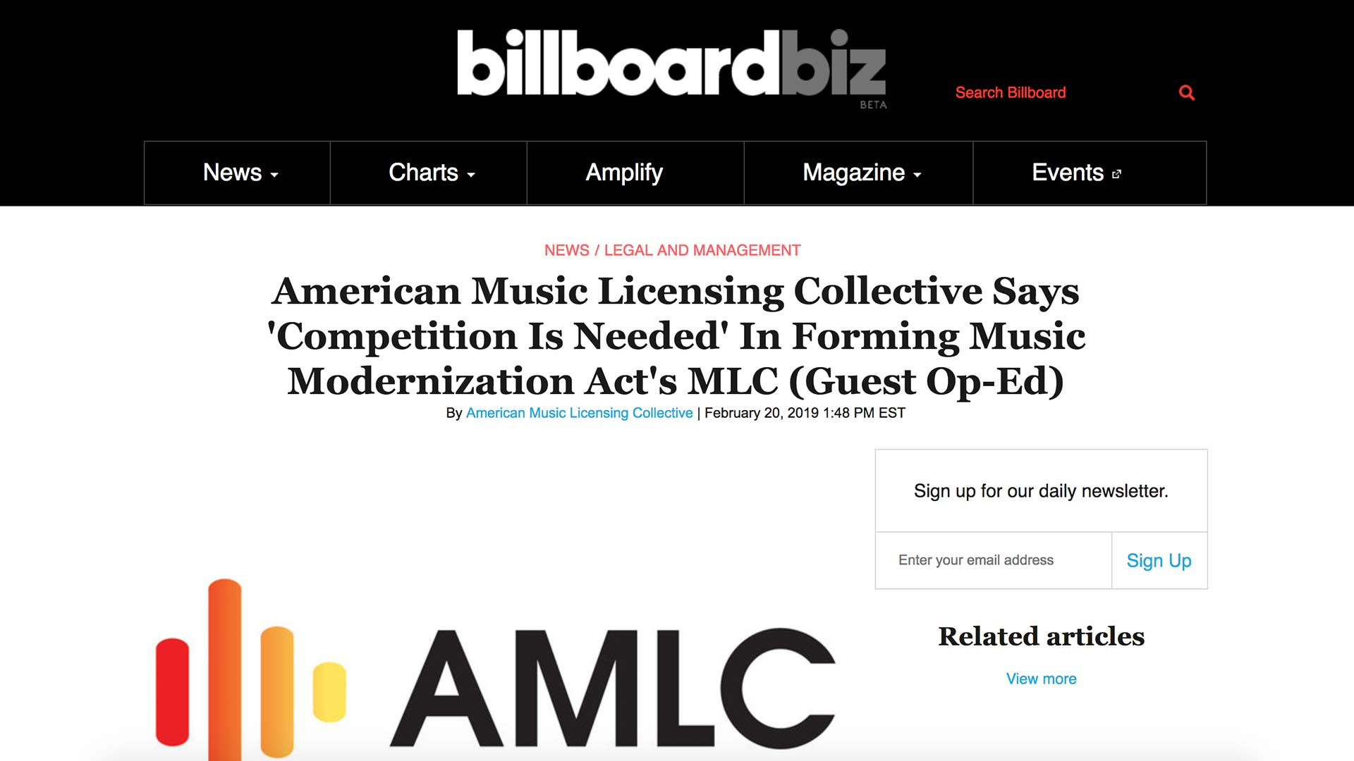 Fairness Rocks News American Music Licensing Collective Says 'Competition Is Needed' In Forming Music Modernization Act's MLC (Guest Op-Ed)