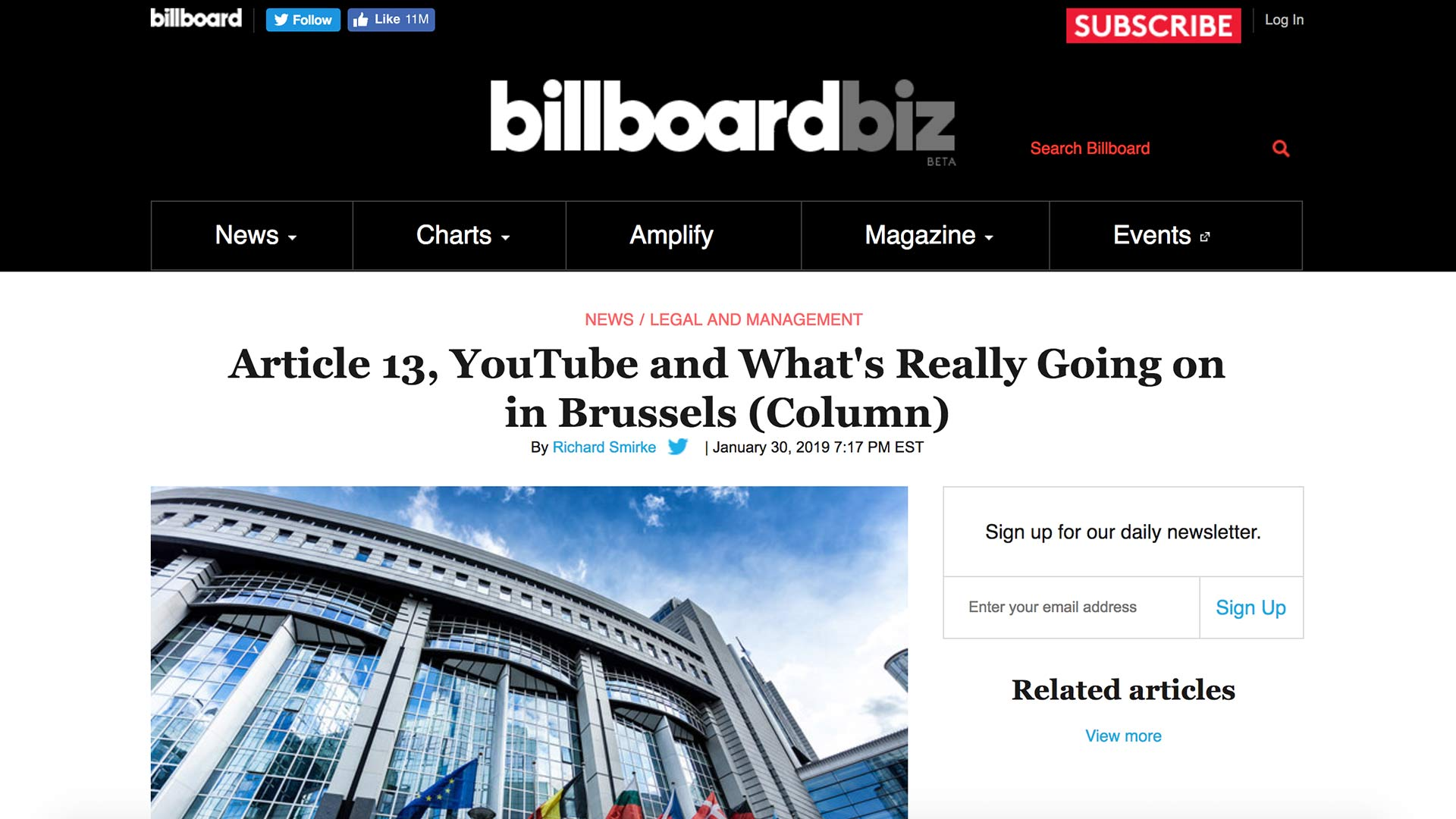 Fairness Rocks News Article 13, YouTube and What's Really Going on in Brussels (Column)