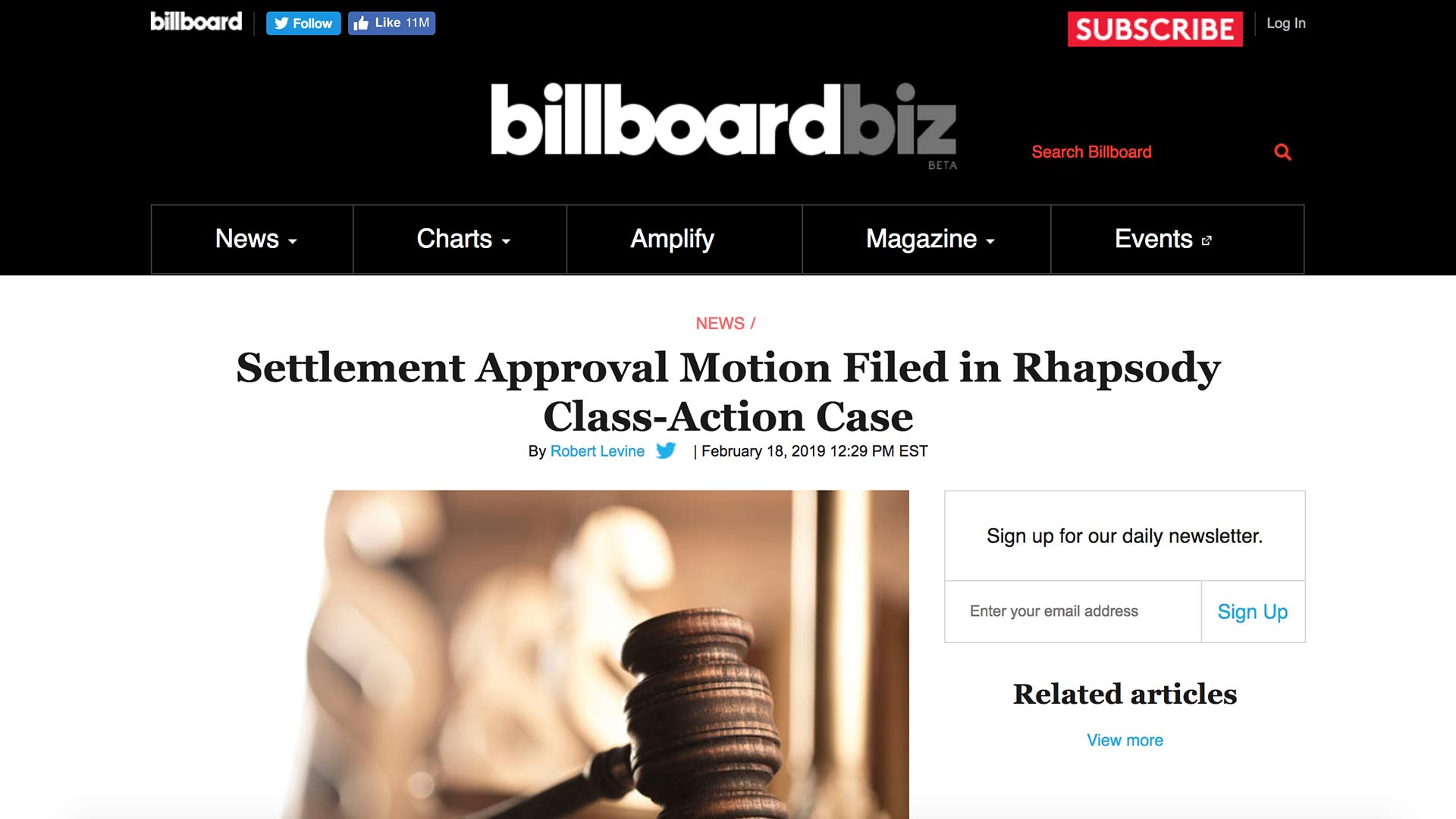 Fairness Rocks News Settlement Approval Motion Filed in Rhapsody Class-Action Case