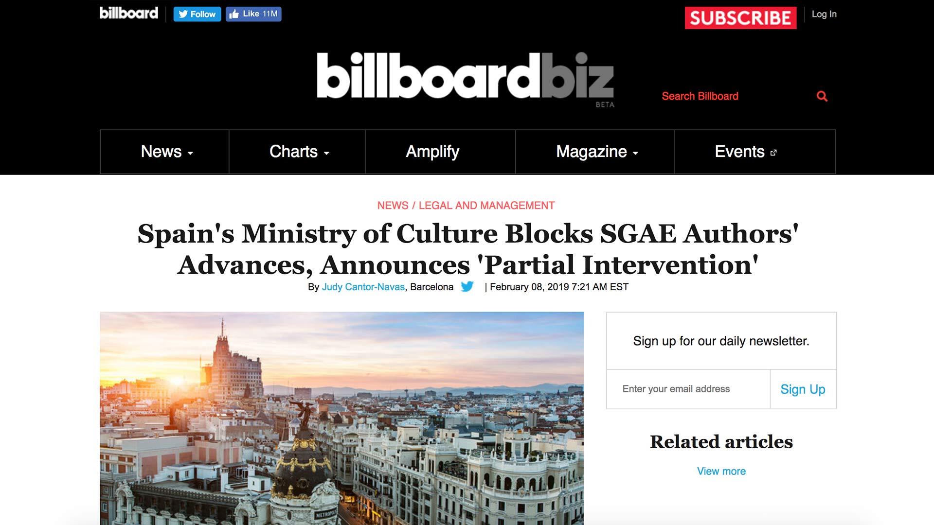 Fairness Rocks News Spain's Ministry of Culture Blocks SGAE Authors' Advances, Announces 'Partial Intervention'