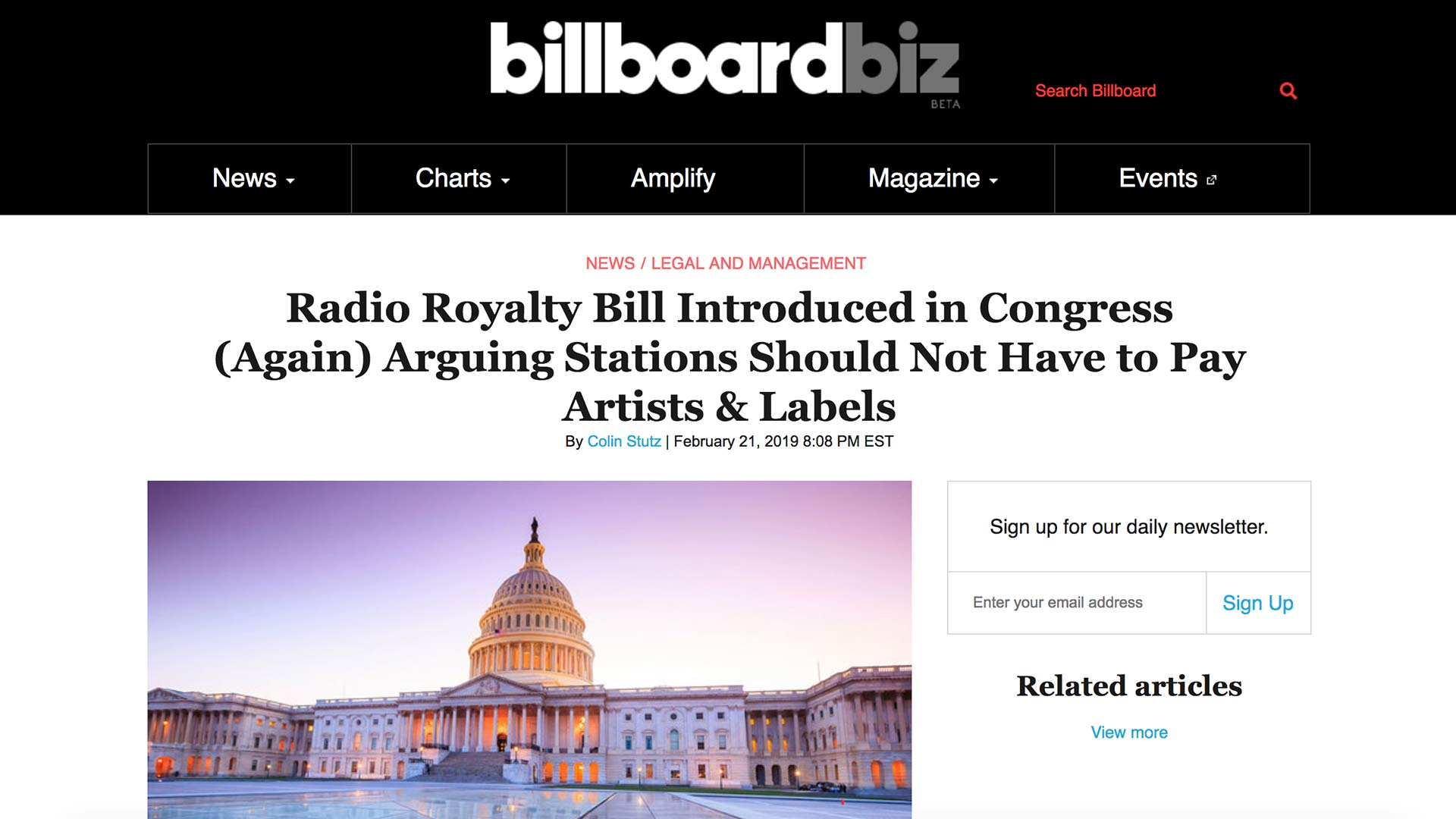 Fairness Rocks News Radio Royalty Bill Introduced in Congress (Again) Arguing Stations Should Not Have to Pay Artists & Labels