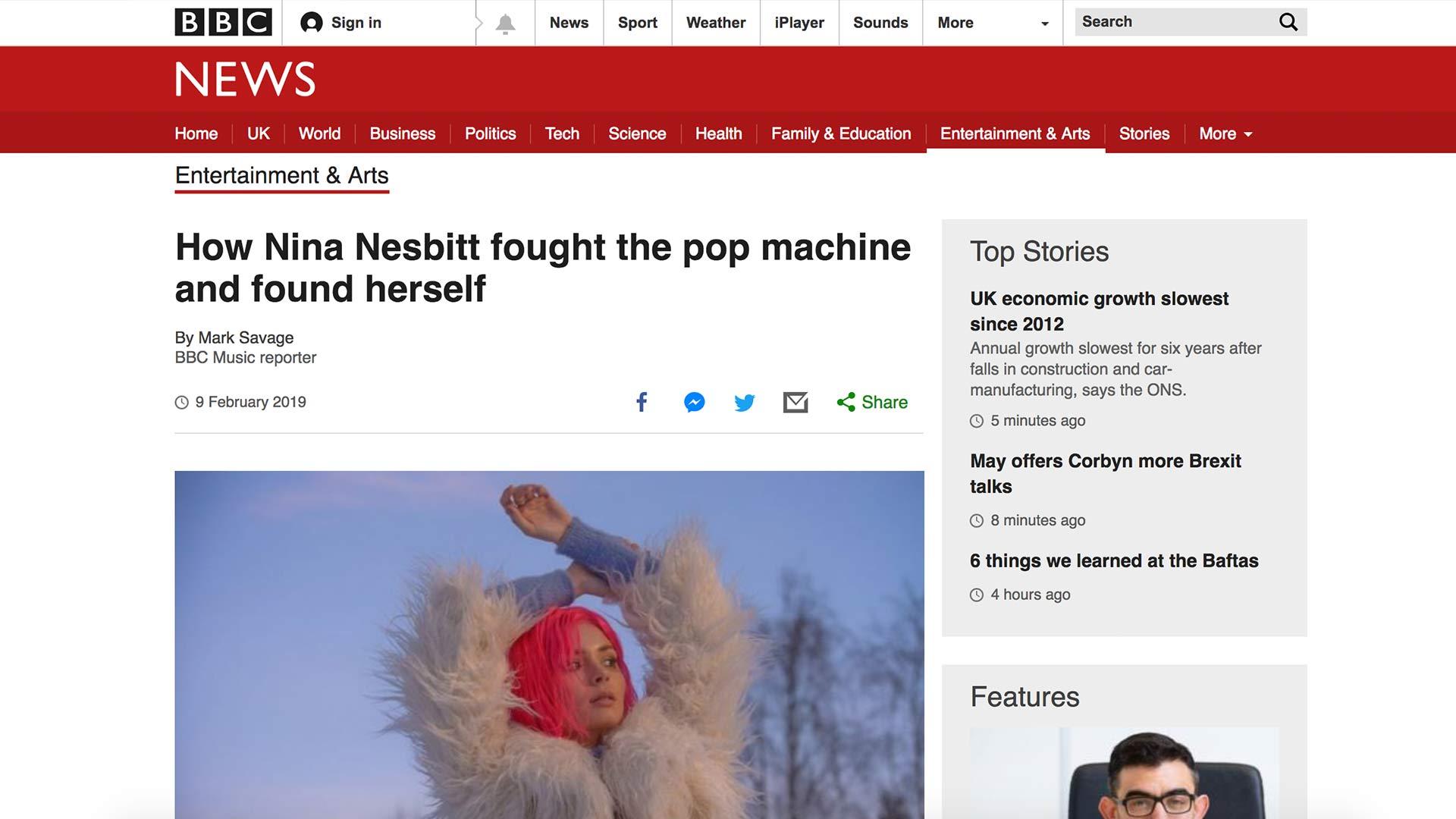 Fairness Rocks News How Nina Nesbitt fought the pop machine and found herself