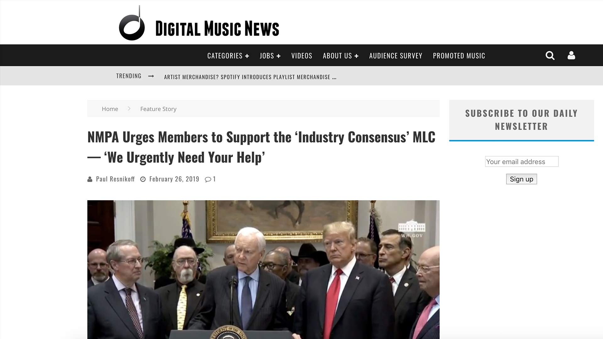 Fairness Rocks News NMPA Urges Members to Support the 'Industry Consensus' MLC — 'We Urgently Need Your Help'
