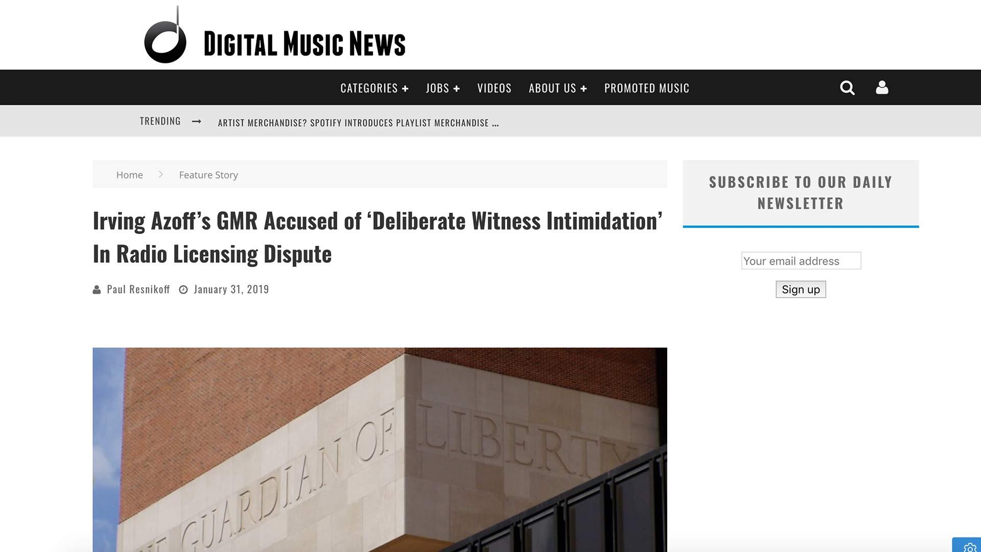Fairness Rocks News Irving Azoff's GMR Accused of 'Deliberate Witness Intimidation' In Radio Licensing Dispute
