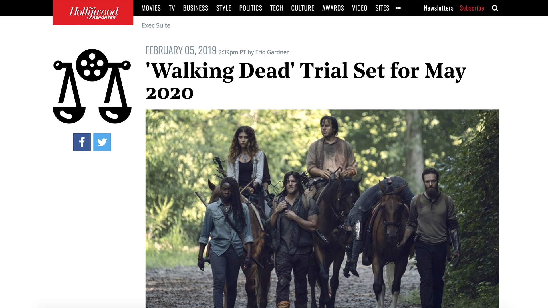 Fairness Rocks News 'Walking Dead' Trial Set for May 2020