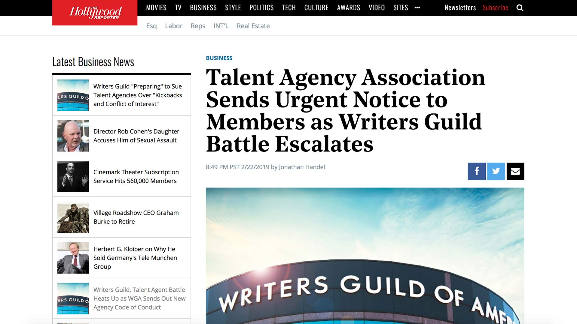 Fairness Rocks News Talent Agency Association Sends Urgent Notice to Members as Writers Guild Battle Escalates