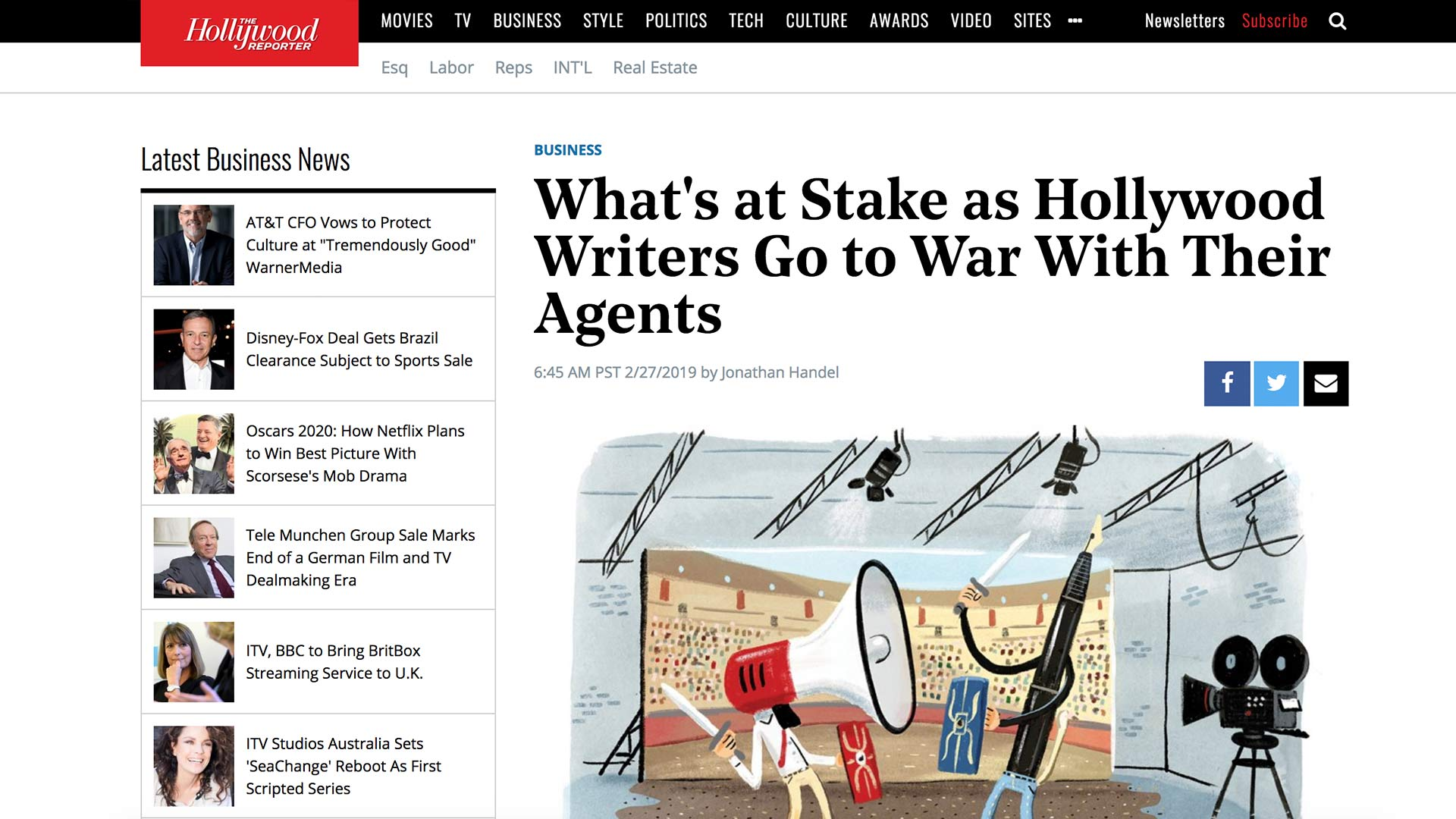 Fairness Rocks News What's at Stake as Hollywood Writers Go to War With Their Agents