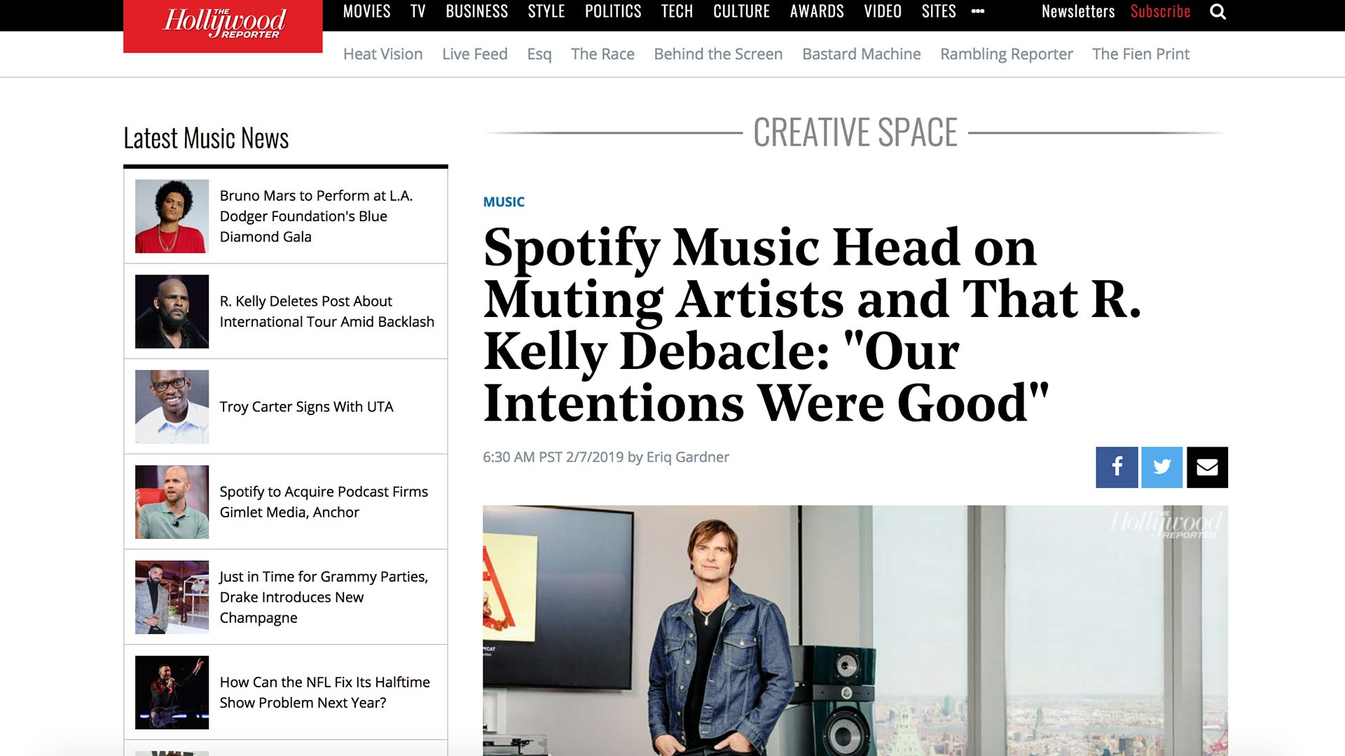 "Fairness Rocks News Spotify Music Head on Muting Artists and That R. Kelly Debacle: ""Our Intentions Were Good"""