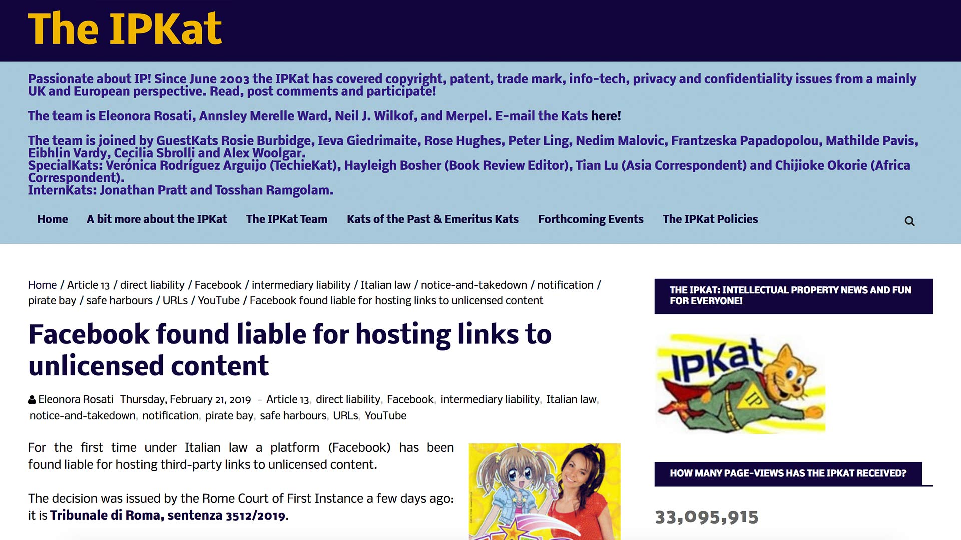 Fairness Rocks News Facebook found liable for hosting links to unlicensed content