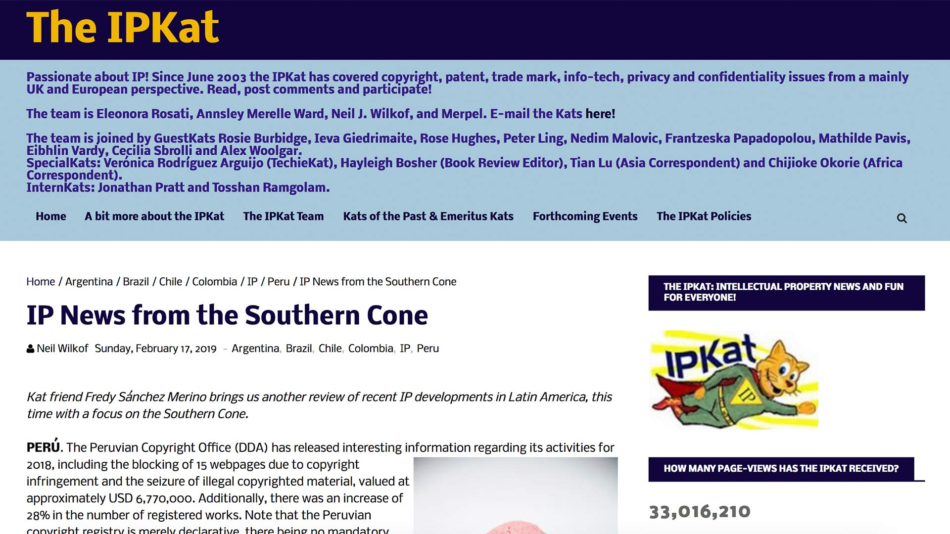 Fairness Rocks News IP News from the Southern Cone