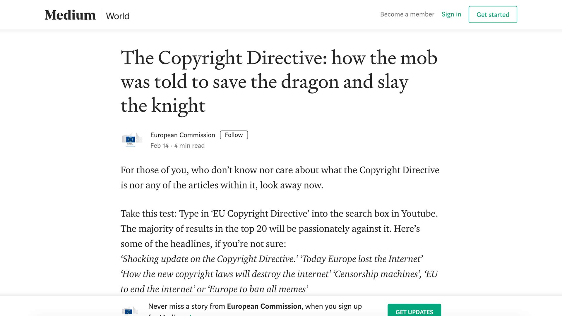 Fairness Rocks News The Copyright Directive: how the mob was told to save the dragon and slay the knight