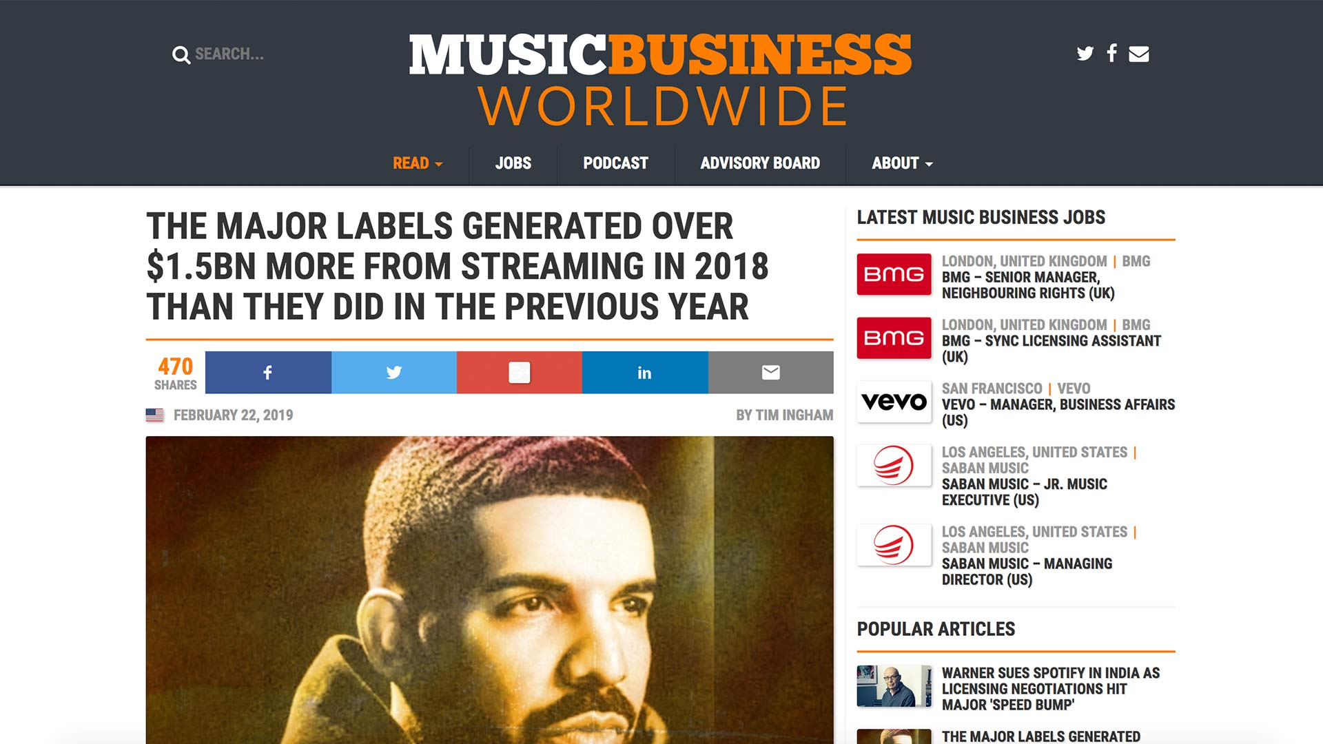Fairness Rocks News THE MAJOR LABELS GENERATED OVER $1.5BN MORE FROM STREAMING IN 2018 THAN THEY DID IN THE PREVIOUS YEAR