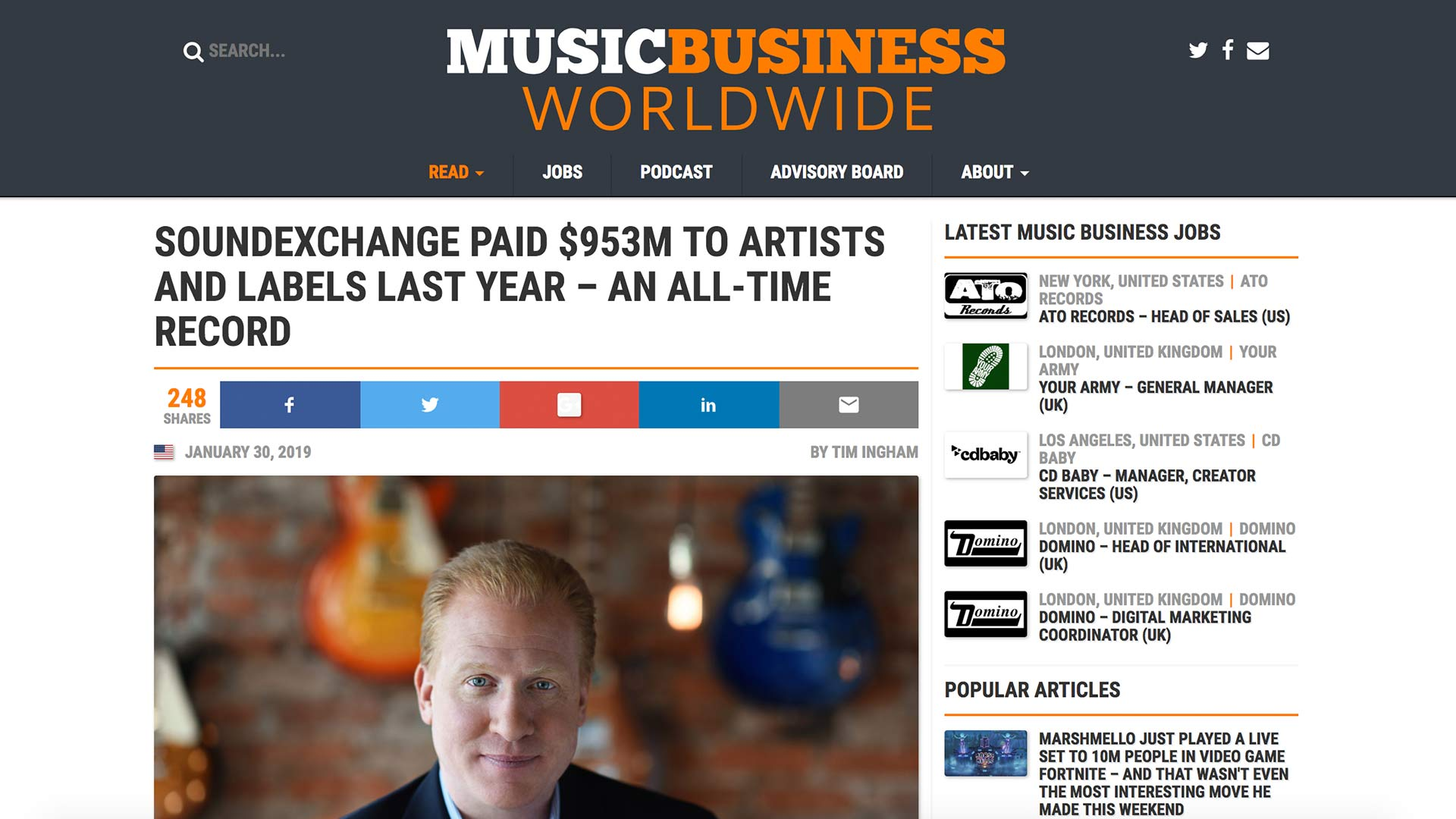 Fairness Rocks News SOUNDEXCHANGE PAID $953M TO ARTISTS AND LABELS LAST YEAR – AN ALL-TIME RECORD