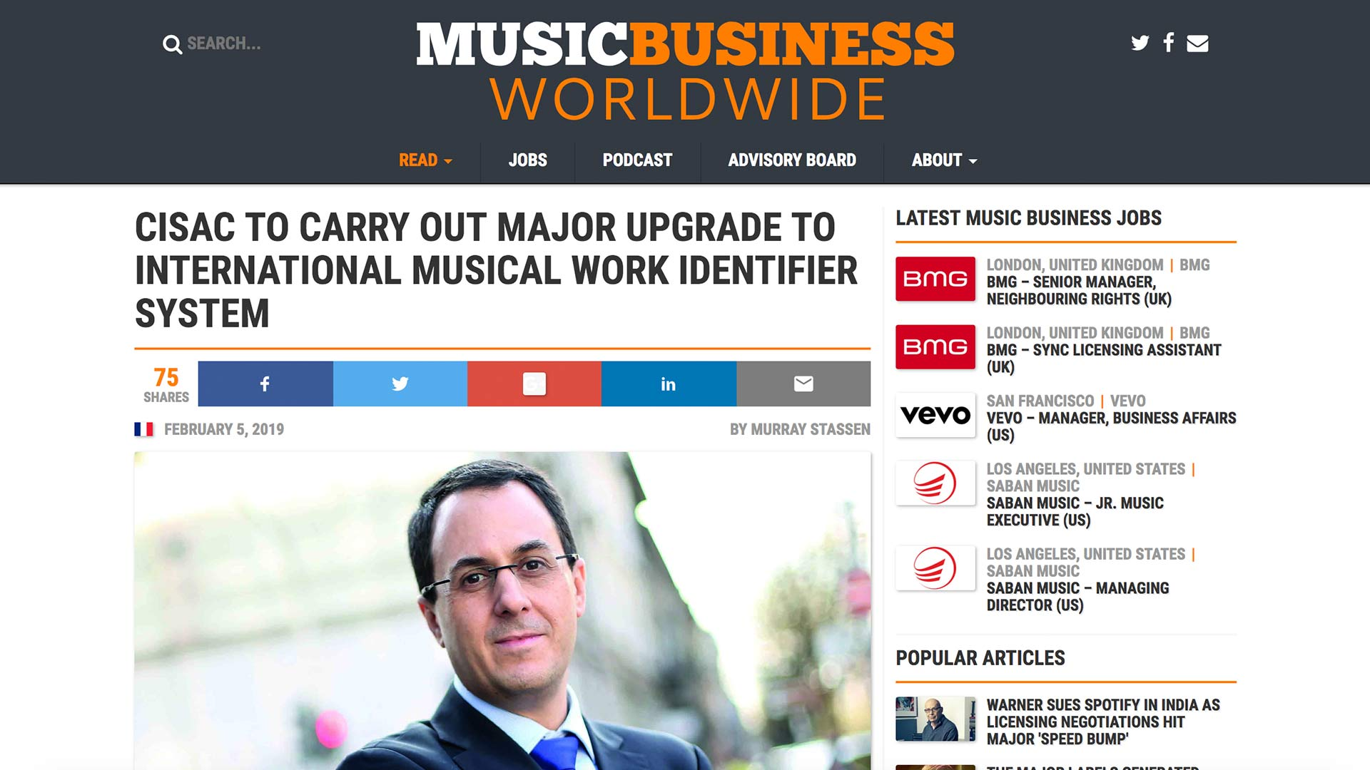 Fairness Rocks News CISAC TO CARRY OUT MAJOR UPGRADE TO INTERNATIONAL MUSICAL WORK IDENTIFIER SYSTEM