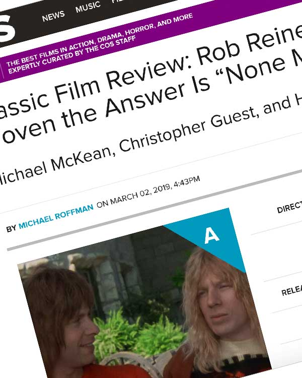 "Fairness Rocks News Classic Film Review: Rob Reiner's This Is Spinal Tap Has Always Proven the Answer Is ""None More Biopic"""