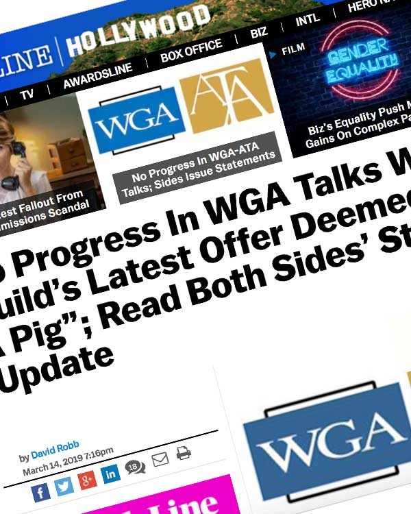 "Fairness Rocks News No Progress In WGA Talks With ATA As Guild's Latest Offer Deemed ""Lipstick On A Pig""; Read Both Sides' Statements – Update"