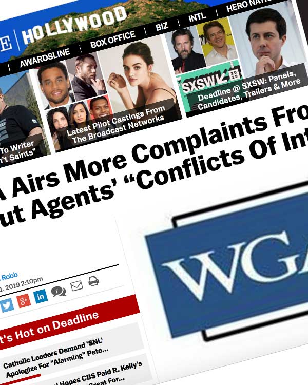 "Fairness Rocks News WGA Airs More Complaints From Writers About Agents' ""Conflicts Of Interest"""