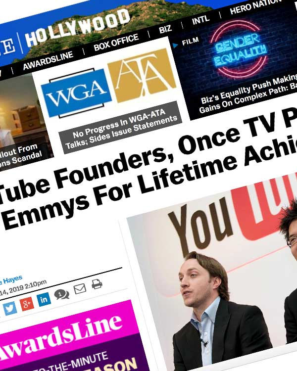 Fairness Rocks News YouTube Founders, Once TV Pariahs, To Get Emmys For Lifetime Achievement