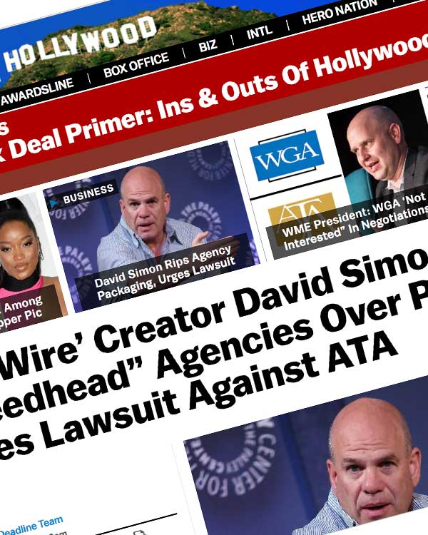 """Fairness Rocks News 'The Wire' Creator David Simon Rips """"Greedhead"""" Agencies Over Packaging, Urges Lawsuit Against ATA"""