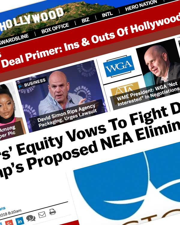 Fairness Rocks News Actors' Equity Vows To Fight Donald Trump's Proposed NEA Elimination
