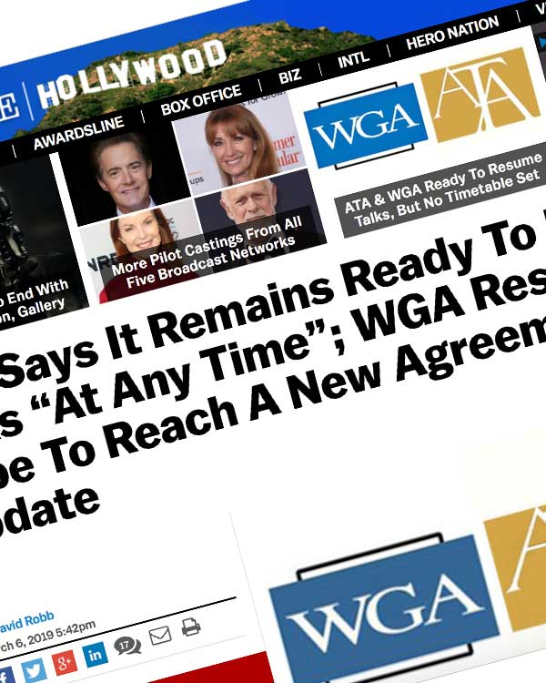 "Fairness Rocks News ATA Says It Remains Ready To Resume Talks ""At Any Time""; WGA Response: ""We Hope To Reach A New Agreement"" – Update"