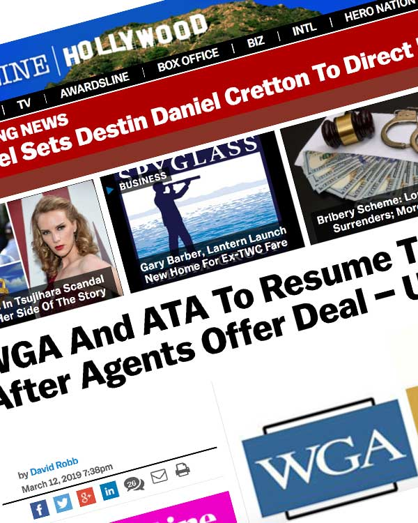 Fairness Rocks News WGA And ATA To Resume Talks Thursday After Agents Offer Deal – Update