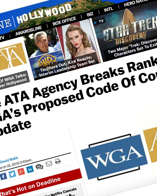 Fairness Rocks News One ATA Agency Breaks Ranks & Signs WGA's Proposed Code Of Conduct – Update