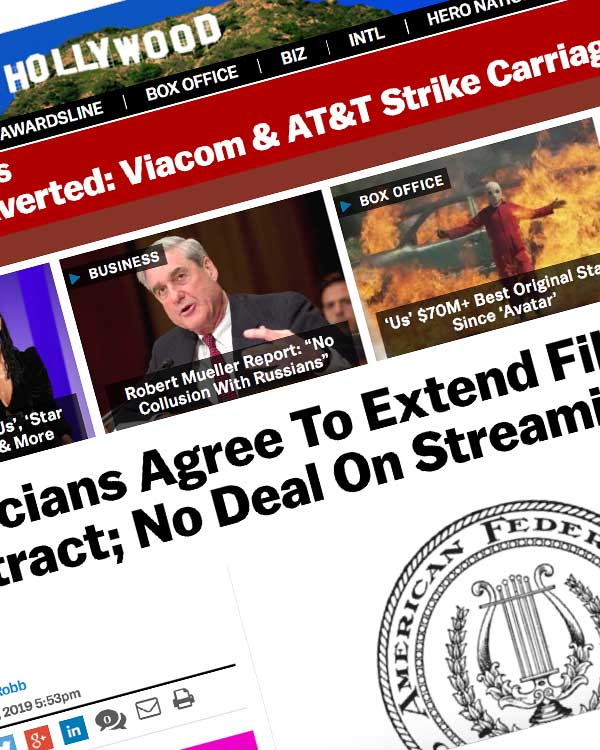 Fairness Rocks News Musicians Agree To Extend Film & TV Contract; No Deal On Streaming Residuals