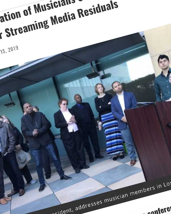 Fairness Rocks News American Federation of Musicians Steps Up Pressure on Studios for Fair Streaming Media Residuals
