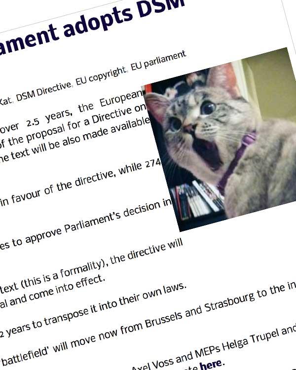 Fairness Rocks News BREAKING: EU Parliament adopts DSM Directive