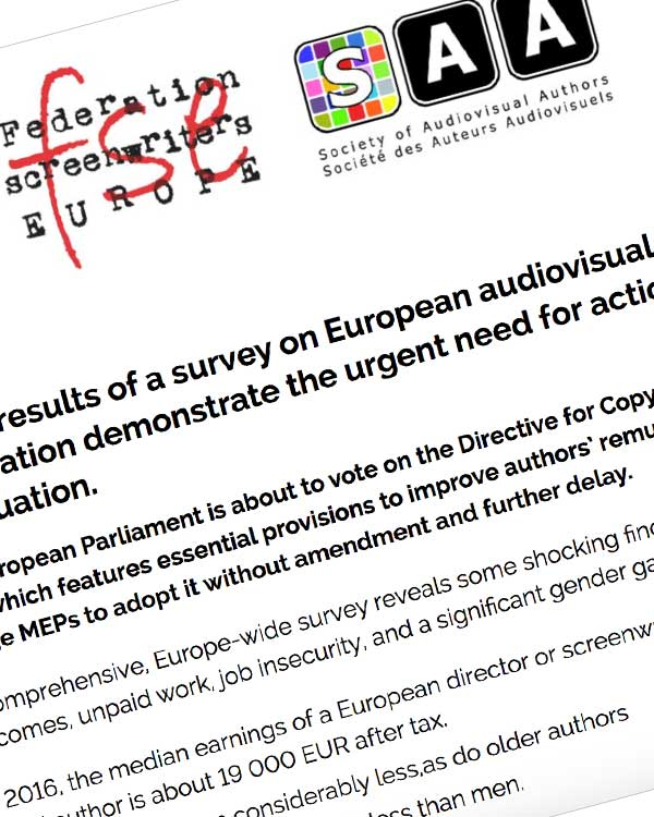 Fairness Rocks News Press release: First ever EU-wide study finds audiovisual authors struggling to make ends meet and to maintain sustainable careers