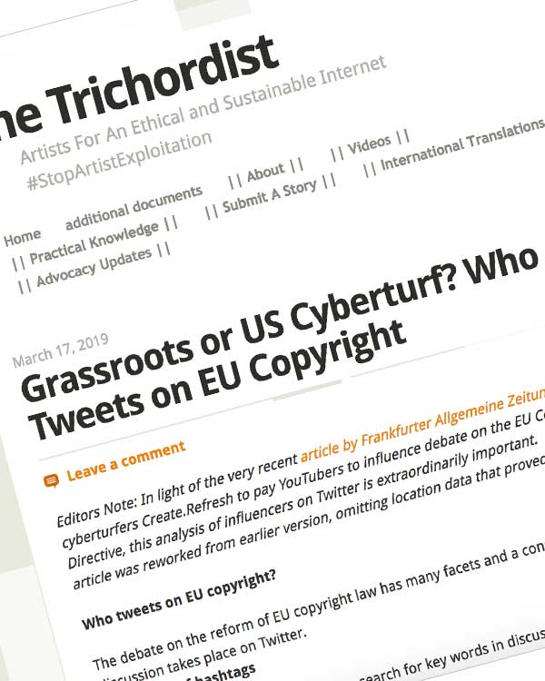 Fairness Rocks News Grassroots or US Cyberturf? Who Tweets on EU Copyright