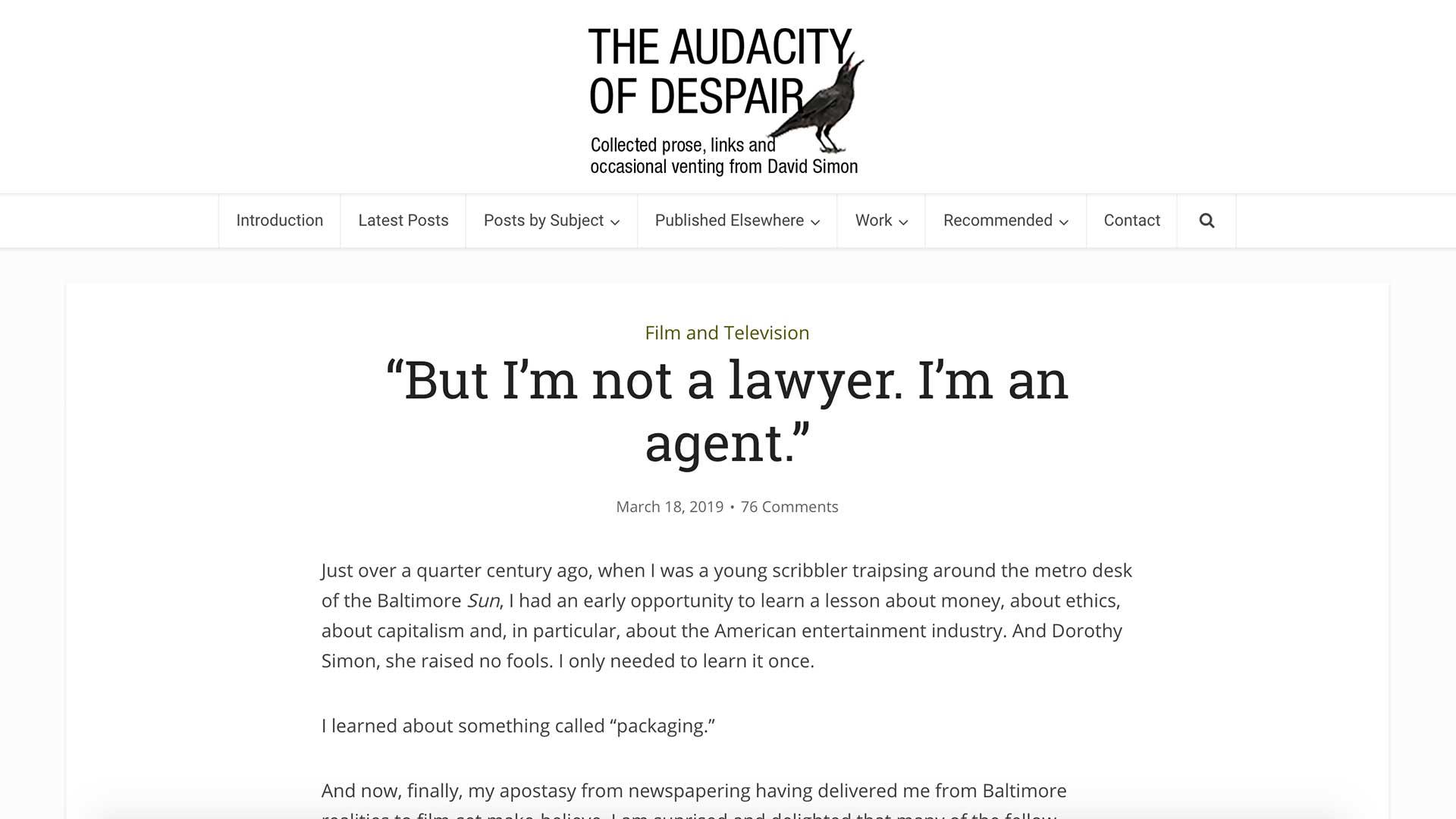 """Fairness Rocks News """"But I'm not a lawyer. I'm an agent."""""""