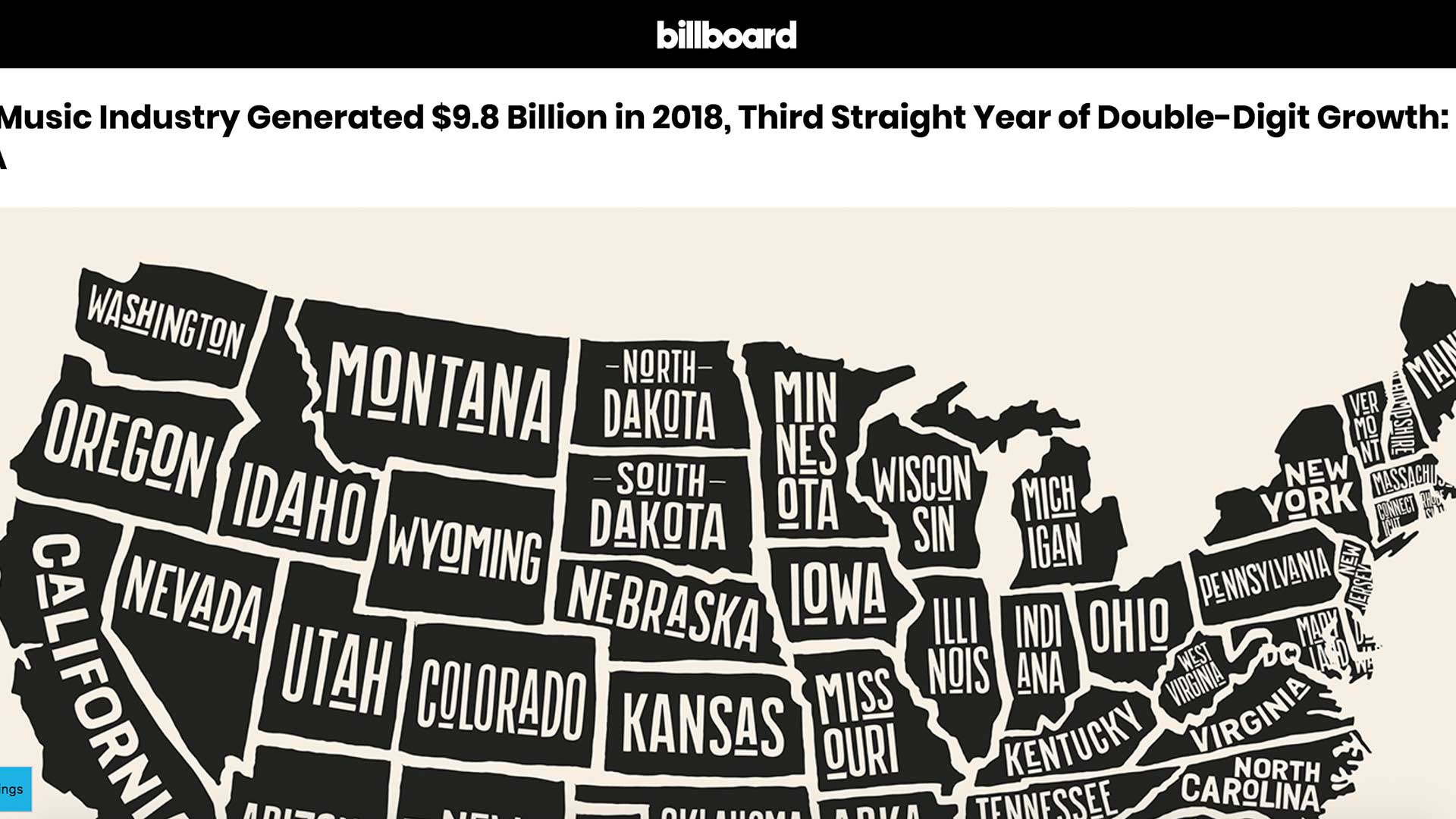 Fairness Rocks News U.S. Music Industry Generated $9.8 Billion in 2018, Third Straight Year of Double-Digit Growth: RIAA