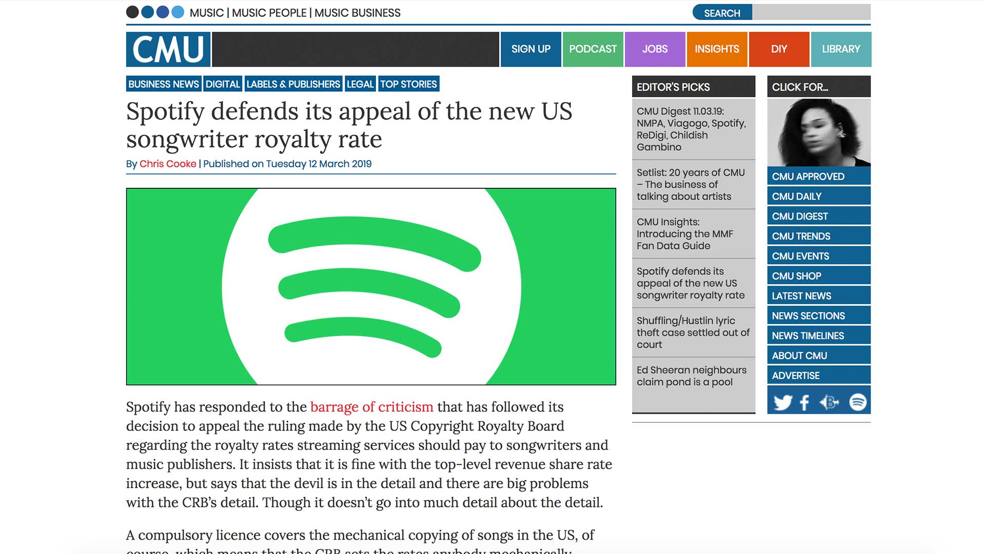 Fairness Rocks News Spotify defends its appeal of the new US songwriter royalty rate