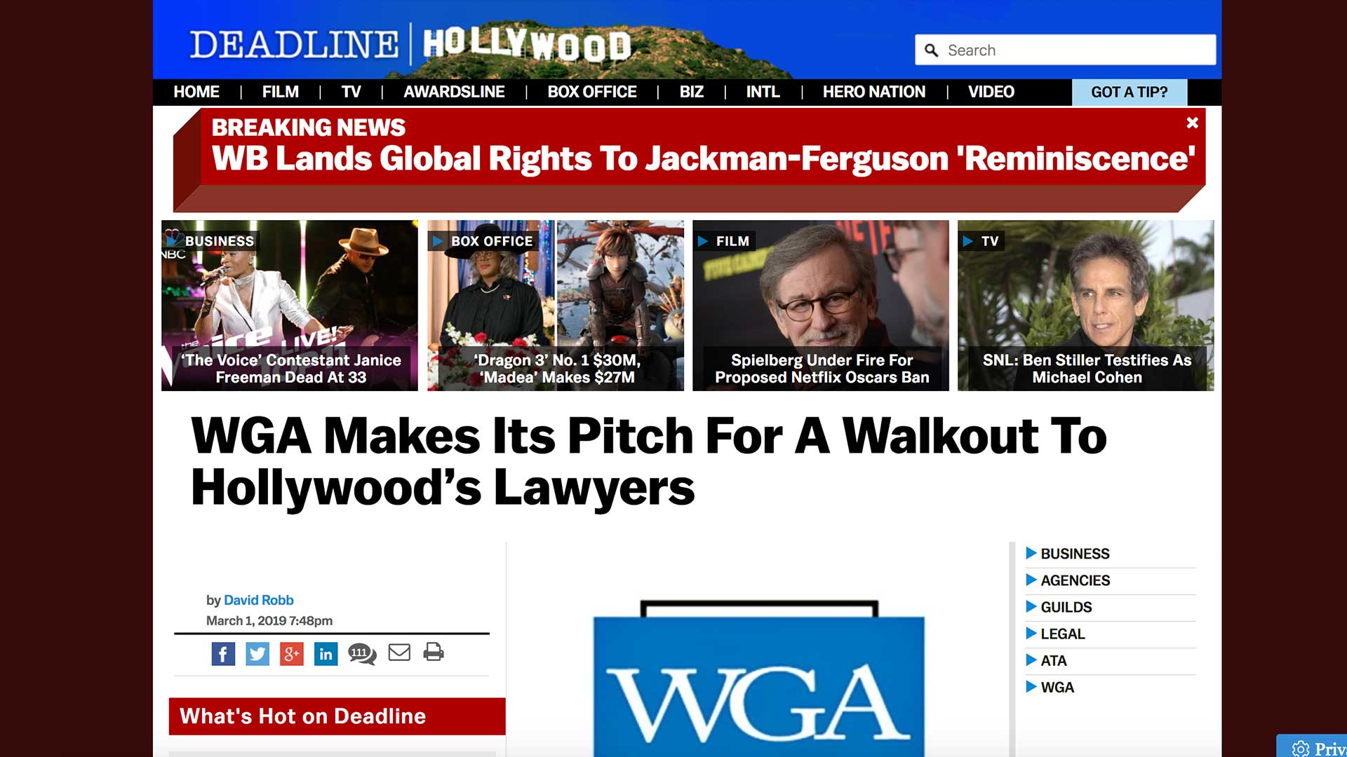 Fairness Rocks News WGA Makes Its Pitch For A Walkout To Hollywood's Lawyers
