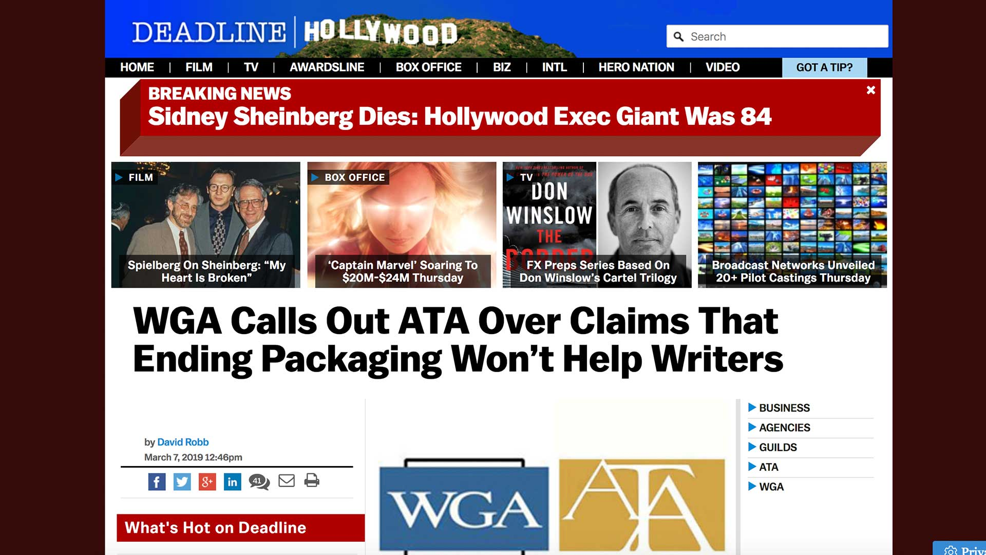 Fairness Rocks News WGA Calls Out ATA Over Claims That Ending Packaging Won't Help Writers