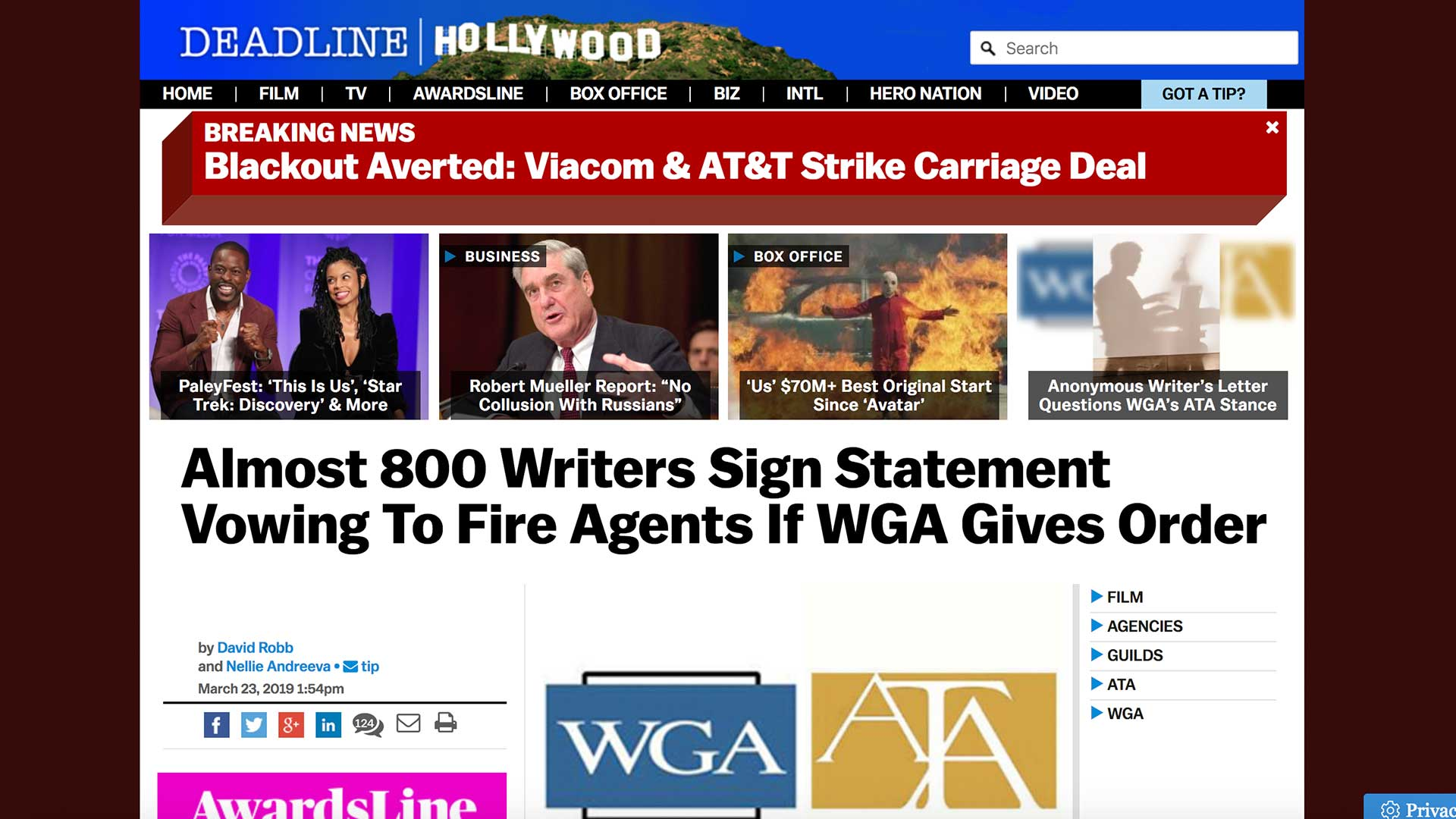 Fairness Rocks News Almost 800 Writers Sign Statement Vowing To Fire Agents If WGA Gives Order