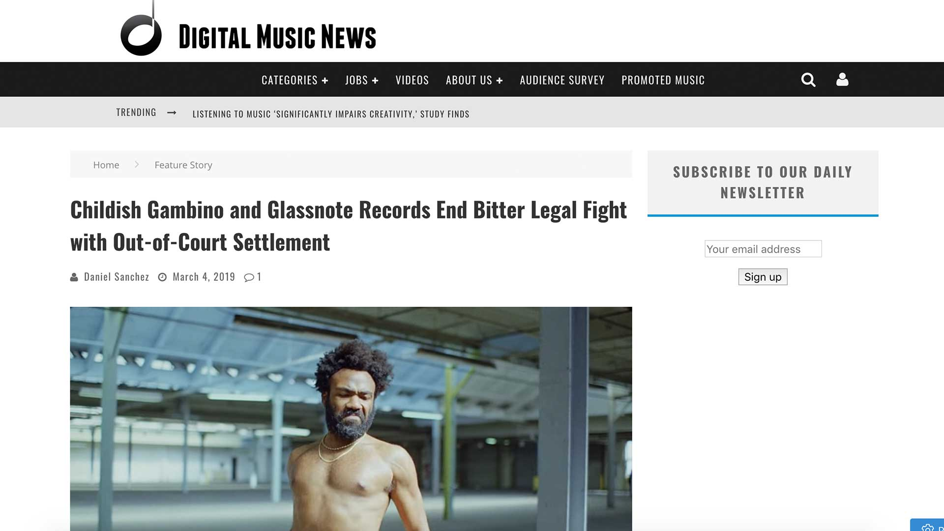 Fairness Rocks News Childish Gambino and Glassnote Records End Bitter Legal Fight with Out-of-Court Settlement
