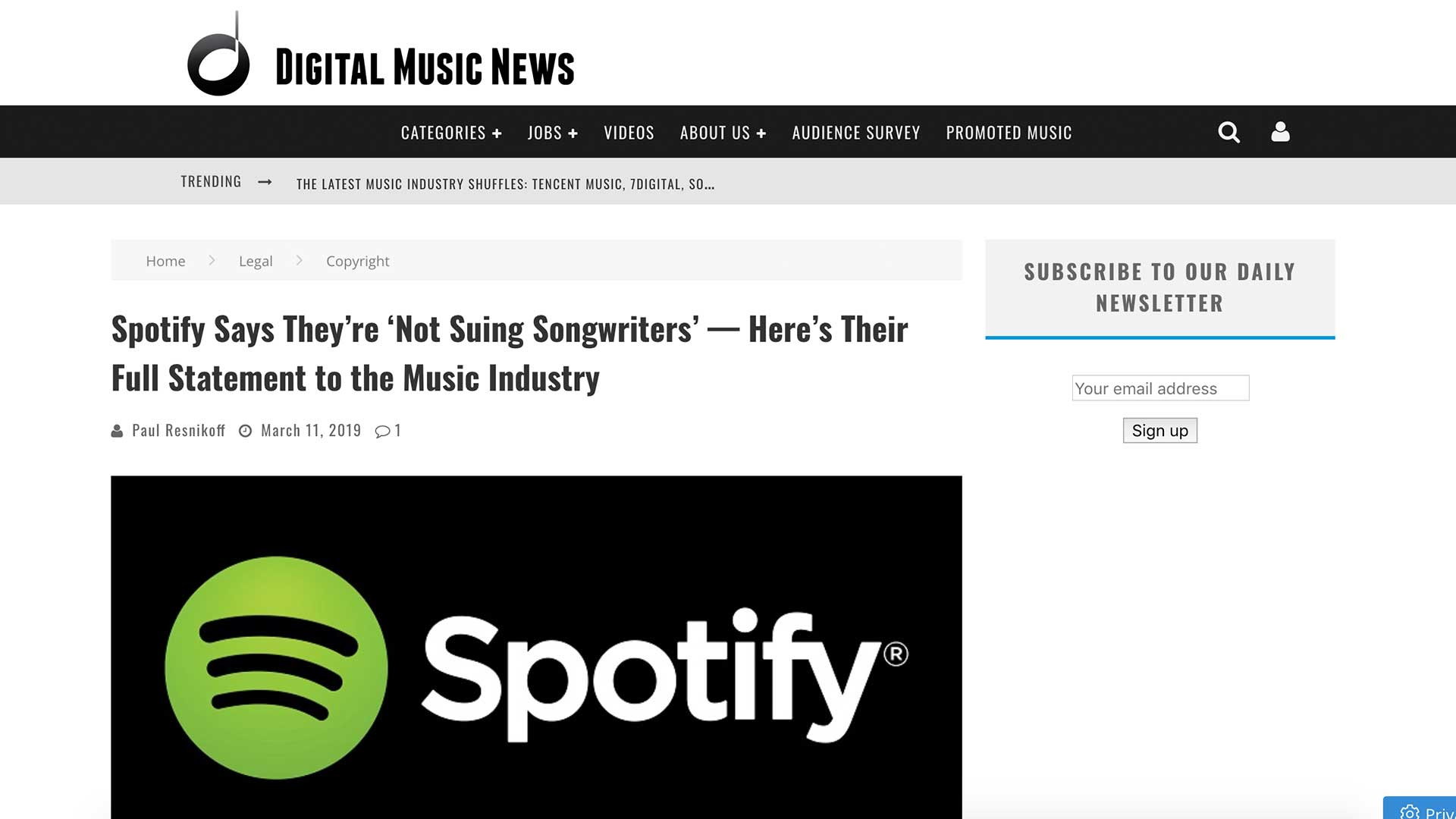 Fairness Rocks News Spotify Says They're 'Not Suing Songwriters' — Here's Their Full Statement to the Music Industry