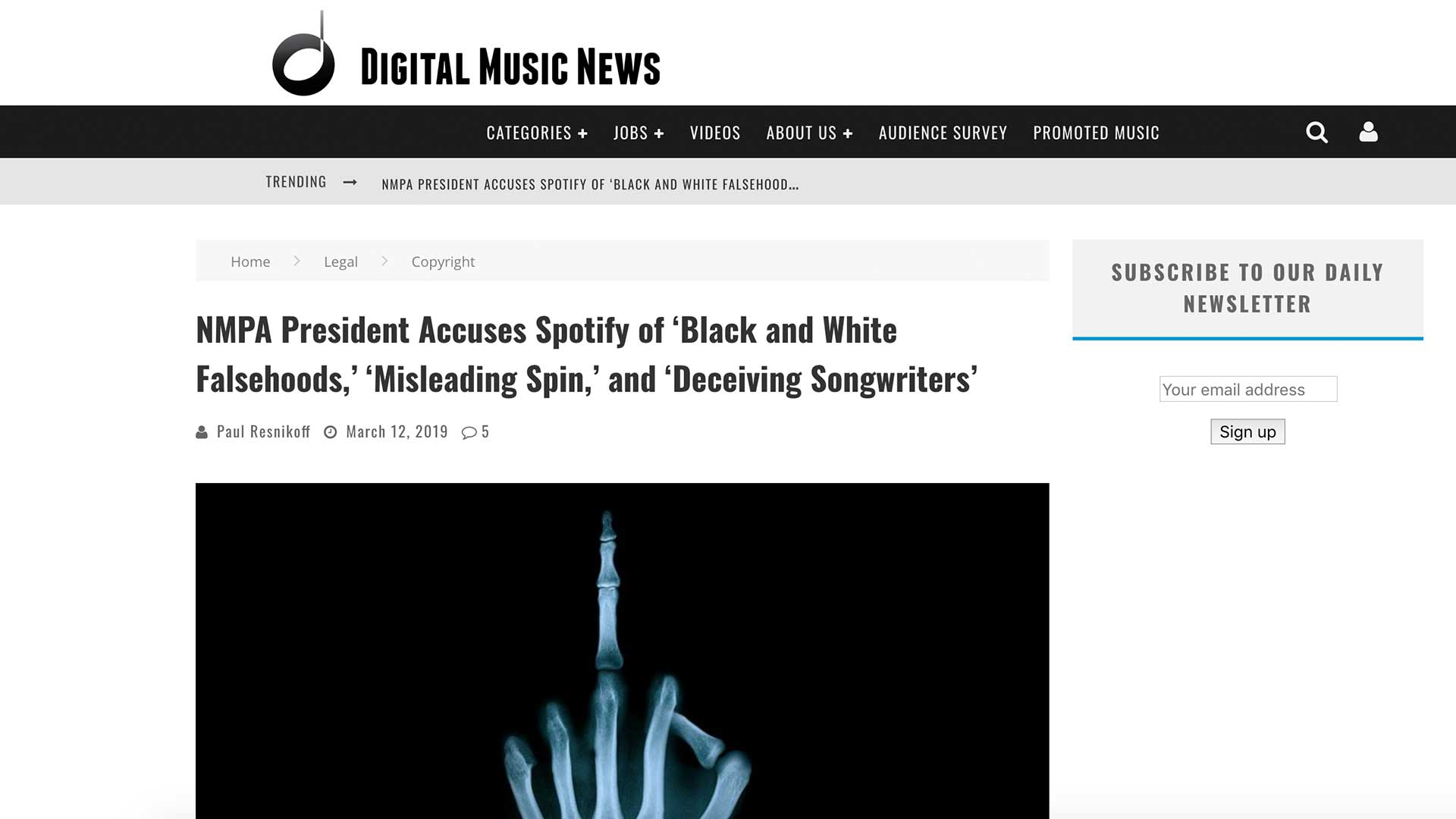 Fairness Rocks News NMPA President Accuses Spotify of 'Black and White Falsehoods,' 'Misleading Spin,' and 'Deceiving Songwriters'