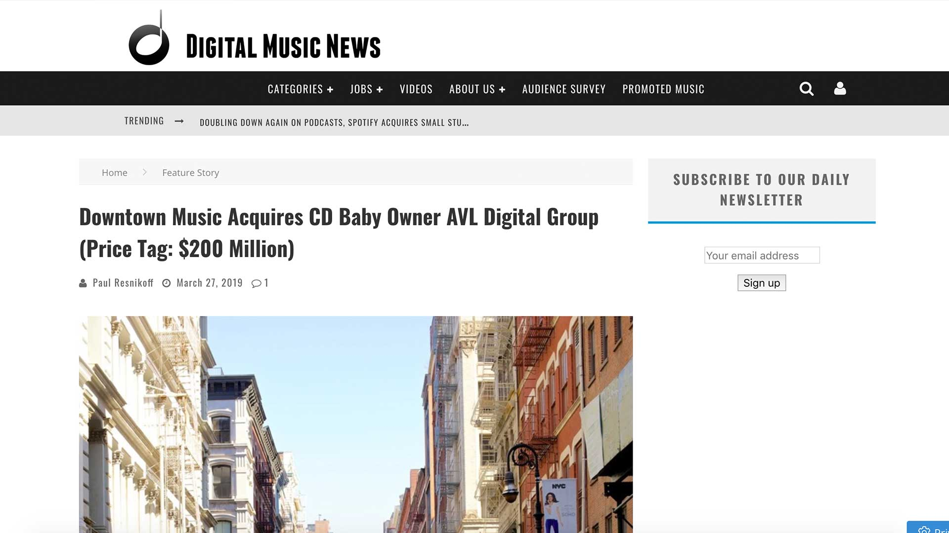 Fairness Rocks News Downtown Music Acquires CD Baby Owner AVL Digital Group (Price Tag: $200 Million)