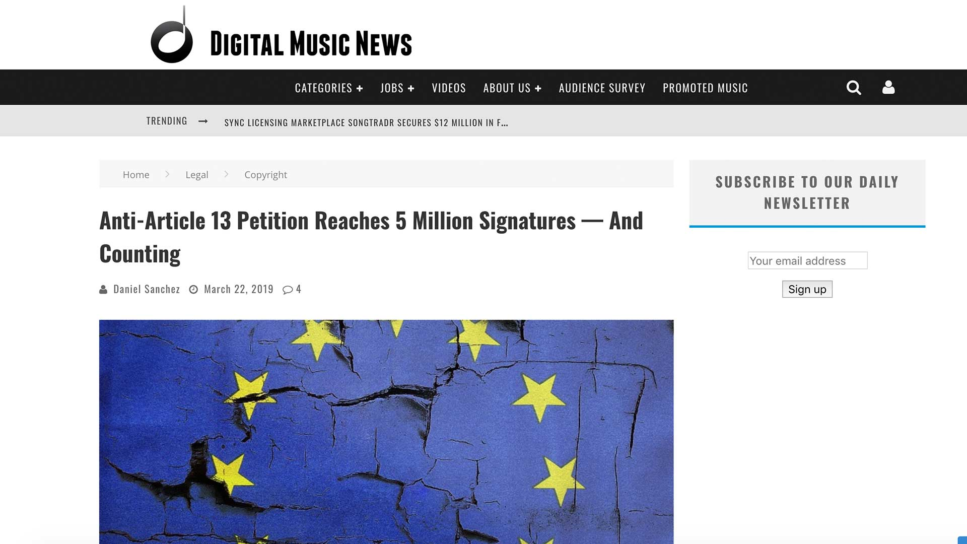 Fairness Rocks News Anti-Article 13 Petition Reaches 5 Million Signatures — And Counting
